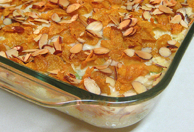 Hot Chicken Salad with almonds