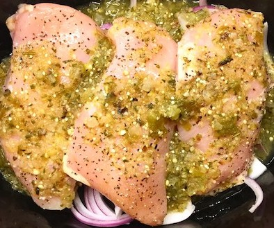 Crockpot Salsa Verde Chicken