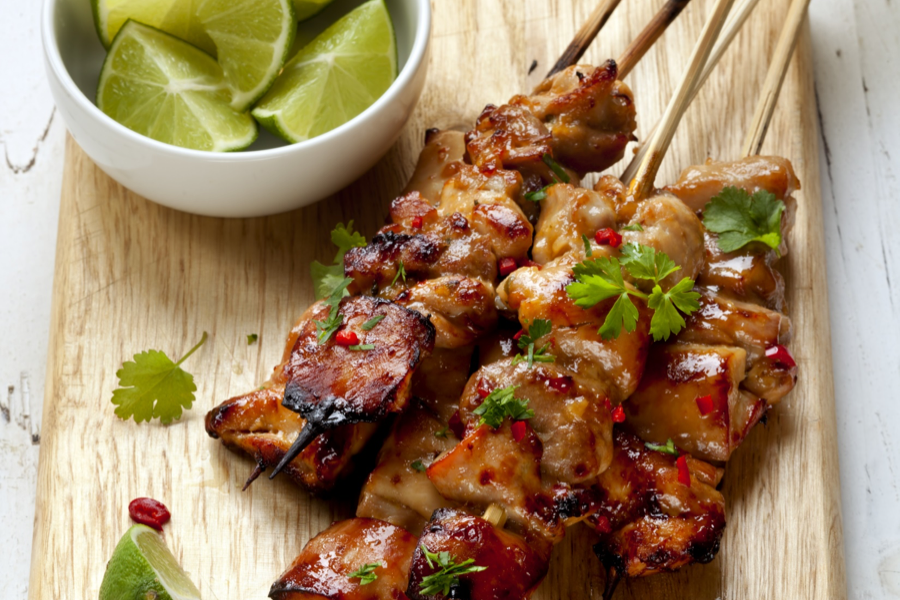 Spicy Thai Chicken Kebabs