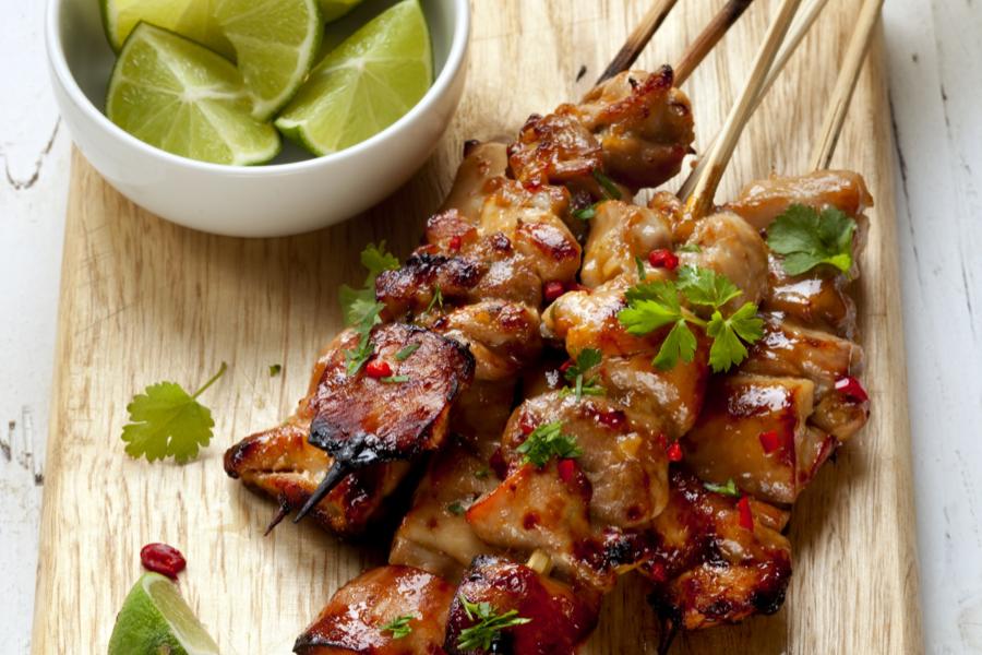 Spicy Thai Chicken Kebabs