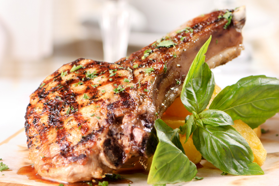 Grilled BBQ Pork Chop