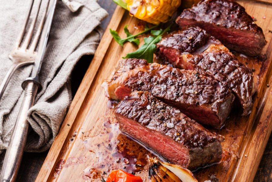 Recipe for Grilled Steak & Bread Salad from Passanante's Home Food Service.